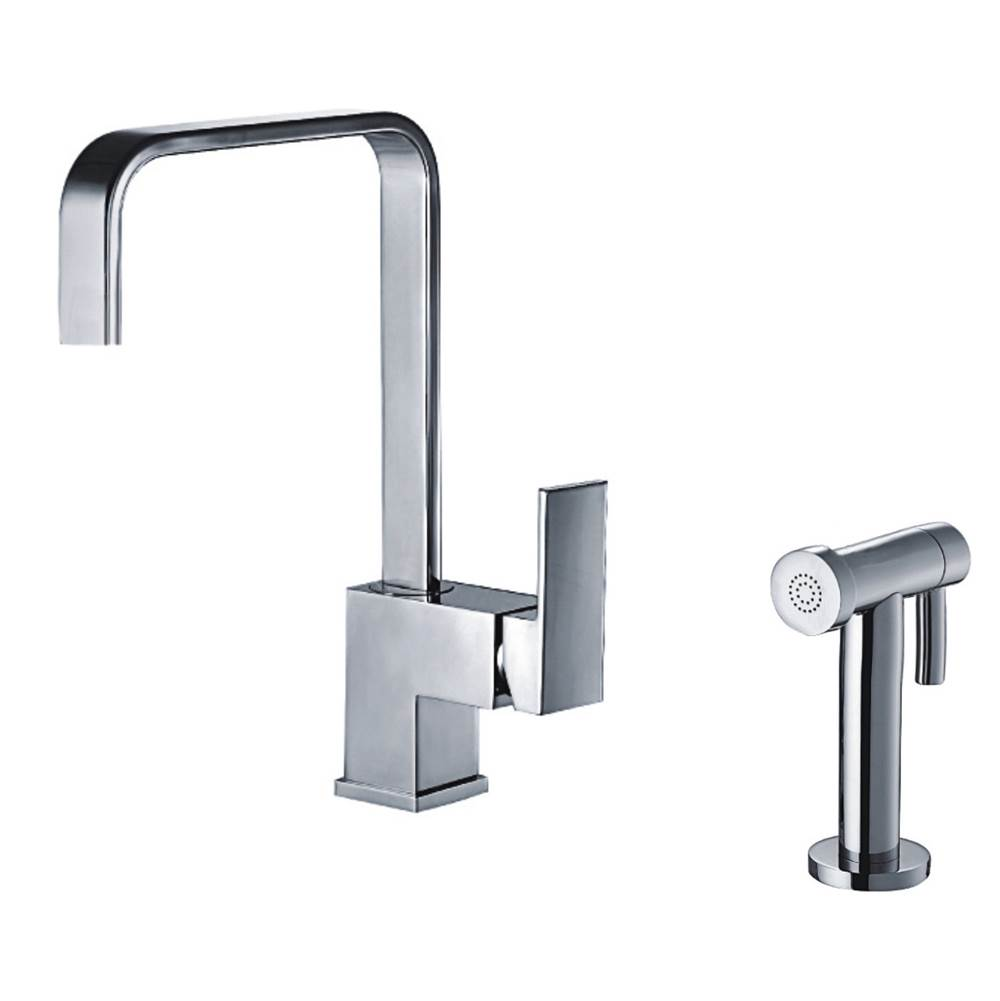 Brushed Nickel Whitehaus Collection WH2070952-BN Jem Collection Kitchen Faucet